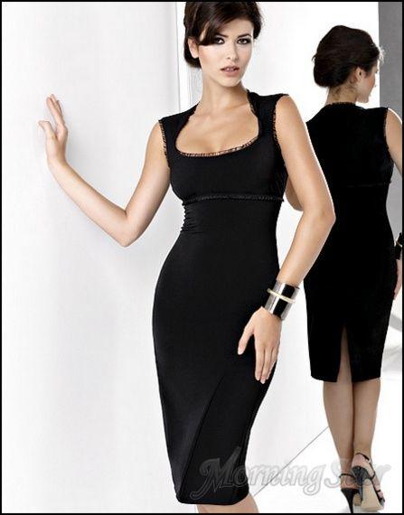 Etuikleid Cocktailkleid Abendkleid Ärmällos Kleid Schwarz, 054b36cef6
